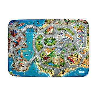 Achoka Seaside Road Ultrasoft Playmat 130 x 180cm For Toddlers