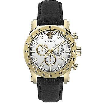 Versace miesten katsella rannekello chronograph urheilullinen VEV800319 nahka
