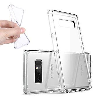Stoff zertifiziert® 2-Pack transparent klar Silikon Fall Abdeckung TPU Fall Samsung Galaxy Note 8