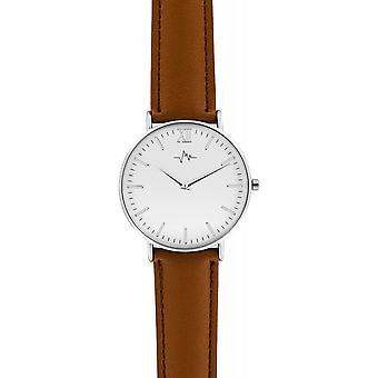 Mostra Andreas Osten AO-183 - cannella misto pelle orologio