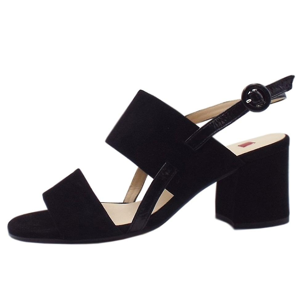 Högl 7-10 5542 Painty Chic Sandals In Black Suede yJL38