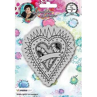 Studio Light Cling Stamp Hearts Art door Marlene 2.0 nr.23 STAMPBM23