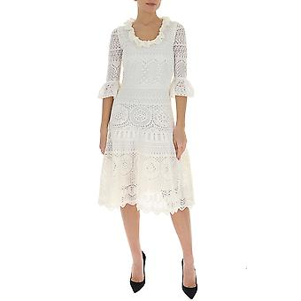 Alexander Mcqueen 610734q1ami9004 Women's White Cotton Dress