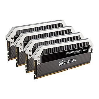 قرصان CMD32GX4M4C3000C15 المسيطر البلاتين عالية الأداء سطح المكتب كيت الذاكرة، DDR4 32 GB، 4 × 8 غيغابايت، 3000 ميغاهرتز، أسود