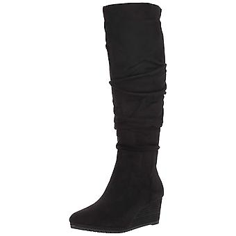 Dr. Scholl's Shoes Womens Central Fabric Almond Toe Knee High Fashion Boots