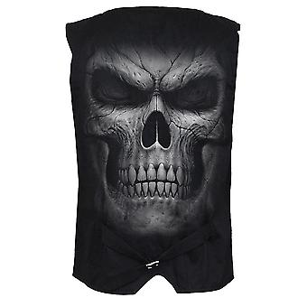 Spiral Direct Gothic SHADOW MASTER - Gothic Waistcoat Four Button with Lining|Skulls|Death|Horror