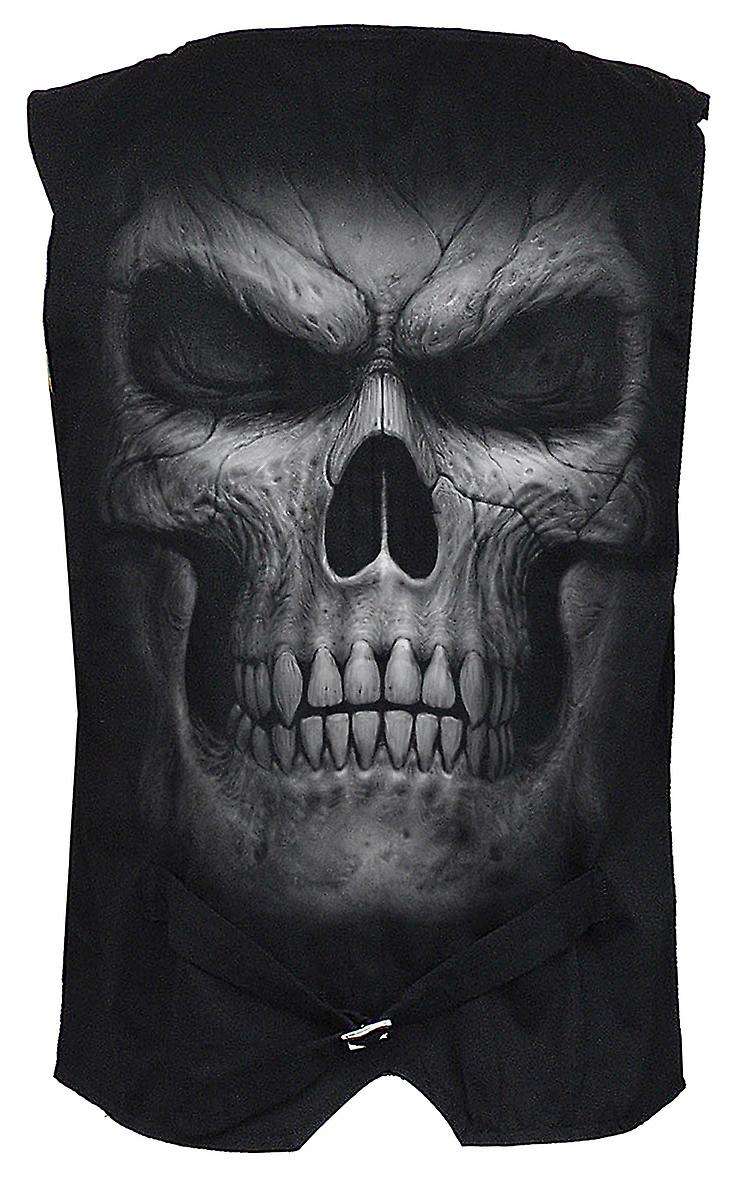 Spiral Direct Gothic SHADOW MASTER - Gothic Waistcoat Four Button with Lining Skulls Death Horror