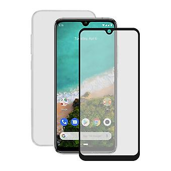 Gehard glas mobiele screenprotector + mobiele case Xiaomi Mi A3 Contact