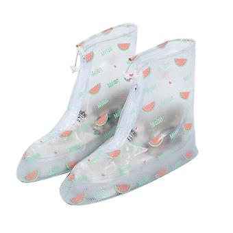 PVC middle tube zipper rain boots cover