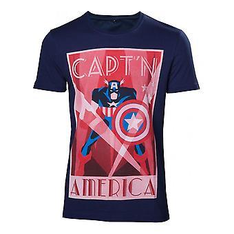 Marvel - Capt-apos;n America Art Déco Style Men-apos;s T-Shirt