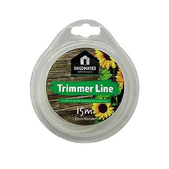 15M Garden Grass Electric Trimmer Strimmer Cutter Line Wire Strong Cord - 1.25mm