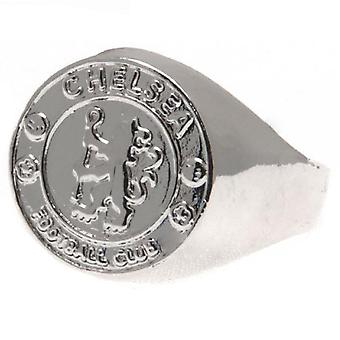 Chelsea FC Silver Plated Medium Crest Ring