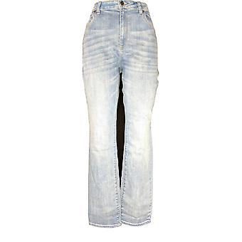Susan Graver Women's Jeans High Stretch Denim Curvy Fit Jeans Blue A373730