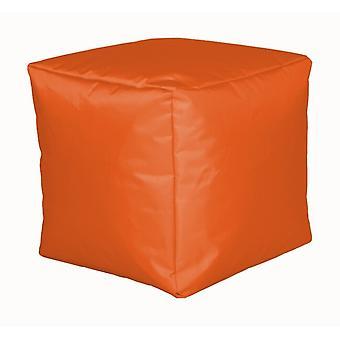 Seat cube nylon Orange size 40 x 40 x 40 with filling