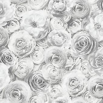 Divoká růže Tapety Silver Arthouse 901701