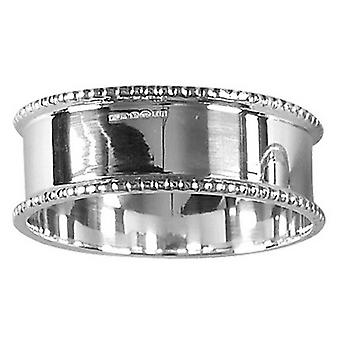 Orton West Beaded Edge Napkin Ring - Silver