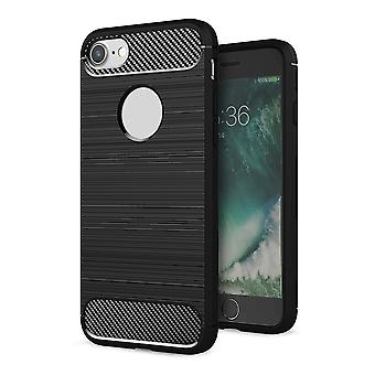 Shell per iPhone 7 Effetto Black Carbon