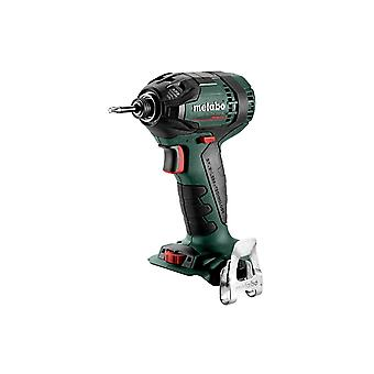"Metabo SSD 18 LTX 200 BL 1/4"" Impact Driver Body Only & Metaloc Case"