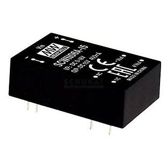 Keskimääräinen hyvin SCWN06B-05 DC/DC-muunnin (moduuli) 1000 mA 6 W Ei. lähtöjen määrä: 1 x