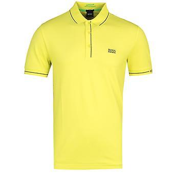 BOSS Paule Lime Green Slim Fit Pique Polo Shirt