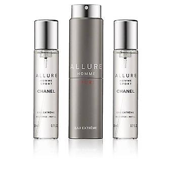 Chanel - Allure Homme Sport Eau Extreme Giftset 3x Edp Spray Refill 20Ml - Twist and Spray - Eau De Toilette - 60ML