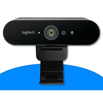 Logitech brio 4k ultra hd webcam, 1080p 5x zoom autofocus web camera, usb 3.0 black