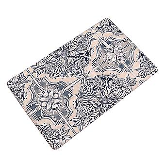 YANGFAN Flannel Geometry Non-Slip Bath Mats