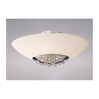 Amada Ceiling Light 6 Bulbs Polished Chrome / Frosted Glass