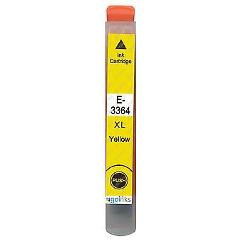1 gul blækpatron til erstatning af Epson T3364 (33XL-serien) Kompatibel/ikke-OEM fra Go Inks