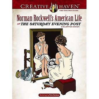 Creative Haven Norman Rockwells American Life from The Saturday Evening Post Coloring Book by Norman Rockwell