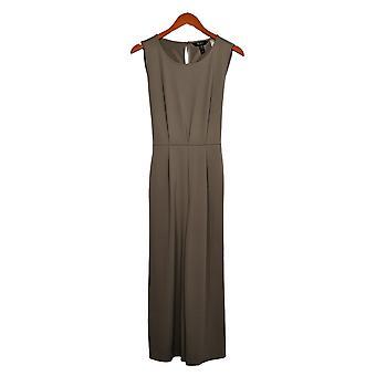Du Jour Women's Reg Cropped Wide Leg Knit Jumpsuit w/ Tie Gray A366218