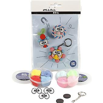 Keyring & Magnets Funny Face Mini Modelling Clay Craft Kit for Kids