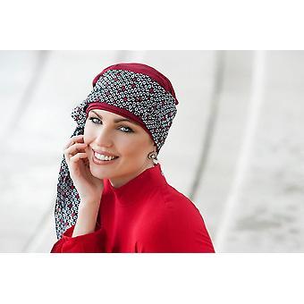 Daisy Rood Zwart Wit Diamanten Sjaal