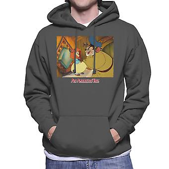 An American Tail Papa Holding Headscarf Men's Hooded Sweatshirt