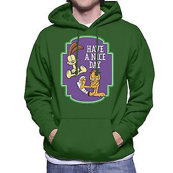 Garfield schoppen Odie hebben een mooie dag mannen ' s Hooded Sweatshirt