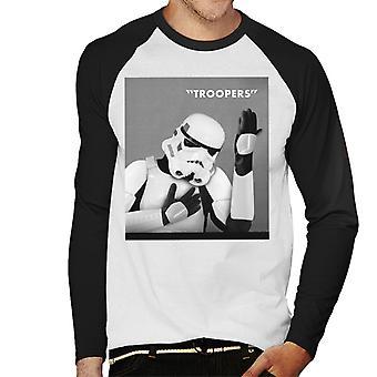 Original Stormtrooper Troopers Heroes Album Cover Parody Men's Baseball Long Sleeved T-Shirt
