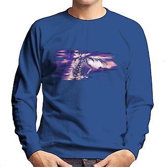 Freddie Mercury Of Queen Its A Hard Life Shoot 1984 Purple Flare Men's Sweatshirt