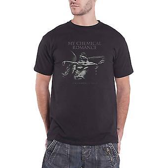My Chemical Romance T Shirt Angel California 2019 Band Logo Officiel Mens Black