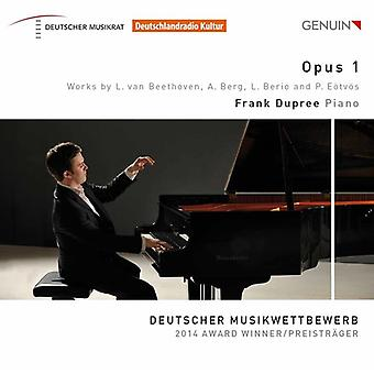 Beethoven / Dupree, Frank - Opus 1 - Piano Works [CD] USA import