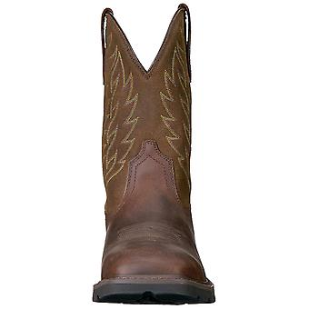 Ariat Mens 10020059 Leather Closed Toe Mid-Calf Western Boots