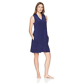 Merk - Arabella Women's Hoodie Pullover Loungewear Caftan,Navy,Small
