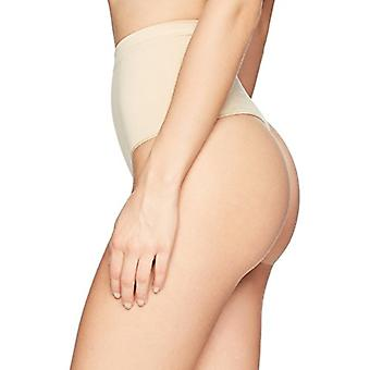 Brand - Arabella Women's Matte and Sheer Seamless Shapewear Bikini, Sa...