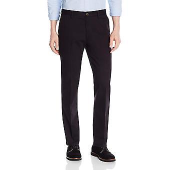 Goodthreads الرجال & apos;ق على التوالي تناسب التجاعيد خالية من اللباس تشينو بانت, أسود, 35W × 32L