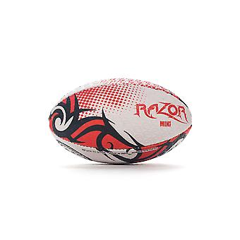 Optimum Razor Rugby League Union Ball Black/Red/White - Mini