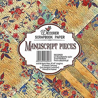 Decorer käsikirjoitus kappaletta 8x8 tuuman paperi pack