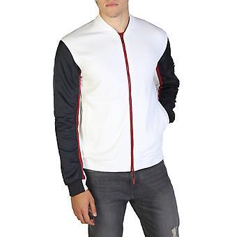 Armani utbyte män's zip fästa sweatshirt