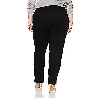 Chic Classic Collection Women's Plus Size Knit Pull-on Pant, Black, 22P