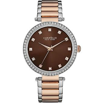 Caravelle Watch 45L152 - Plated Stainless Steel Ladies Quartz Analogue