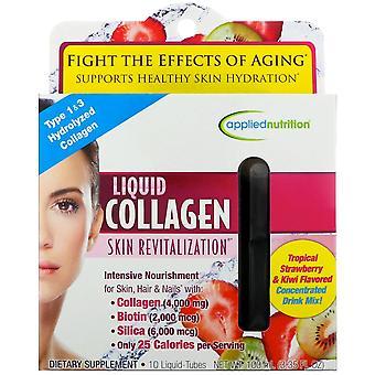 appliednutrition, Liquid Collagen, Skin Revitalization, Tropical Strawberry & Ki