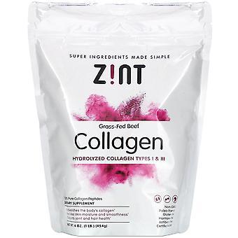 Zint, Grass-Fed Beef Collagen, Hydrolyzed Collagen Types I & III, 16 oz (454 g)